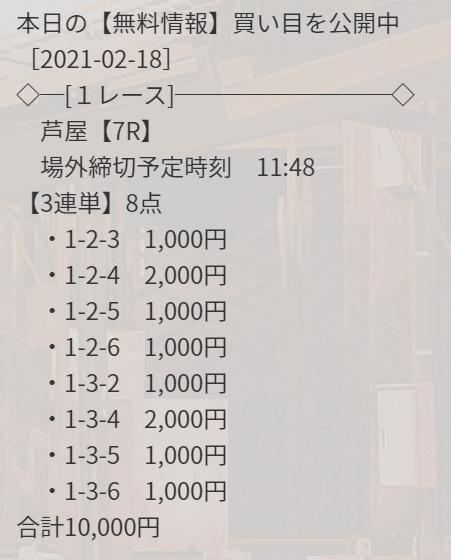 競艇ダイヤモンド_無料情報_2021年2月18日