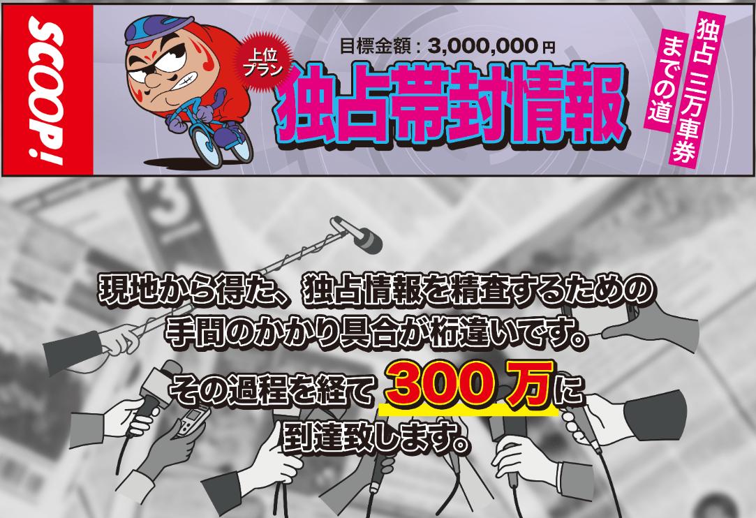 競輪スクープ_有料予想_独占帯封情報