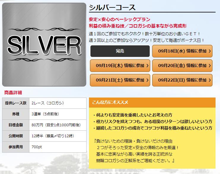 競輪ファンファーレ_有料予想_シルバーコース