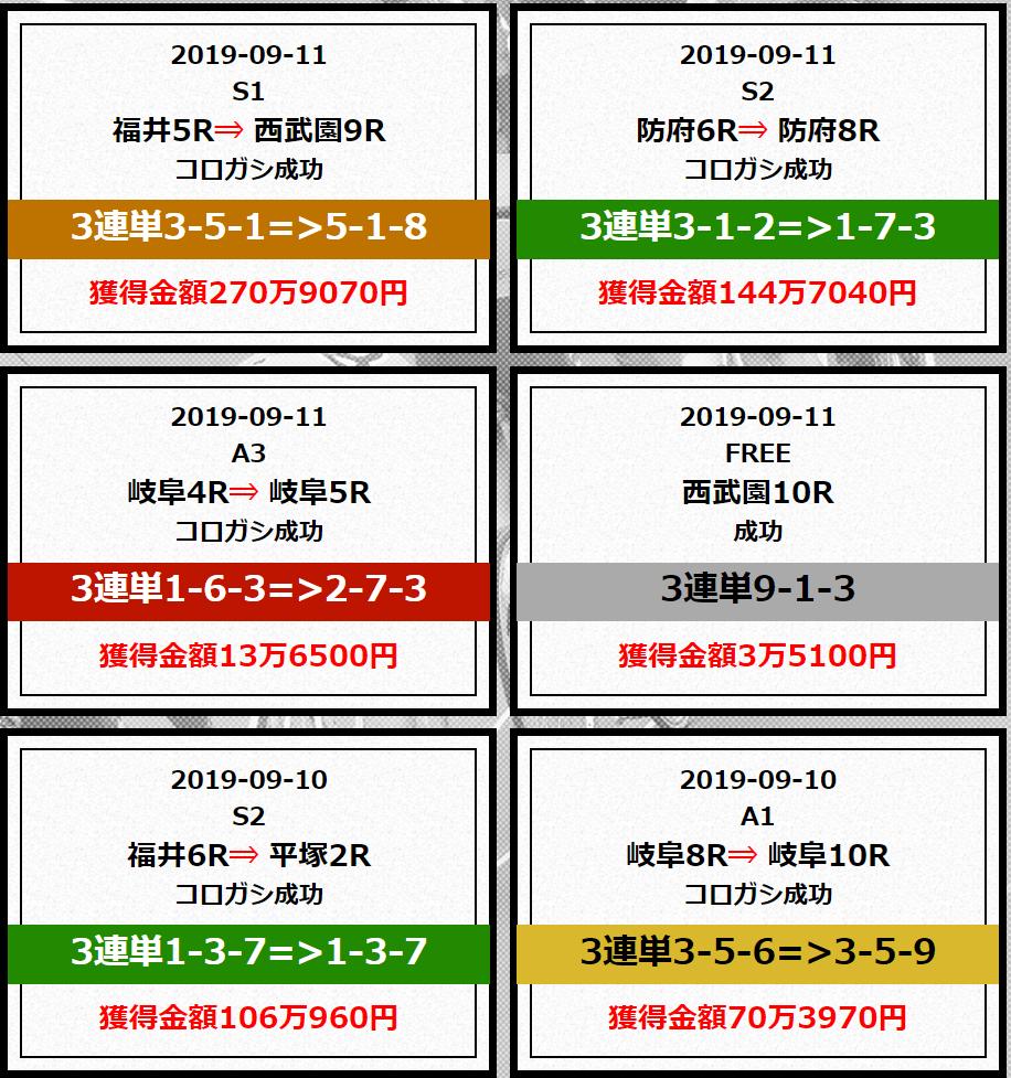必勝競輪チャンネル_的中実績_9月②