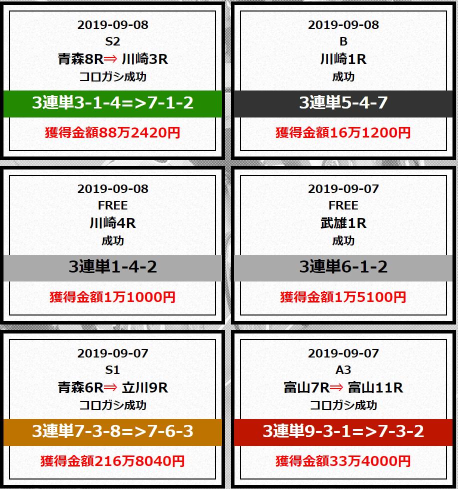 必勝競輪チャンネル_的中実績_9月
