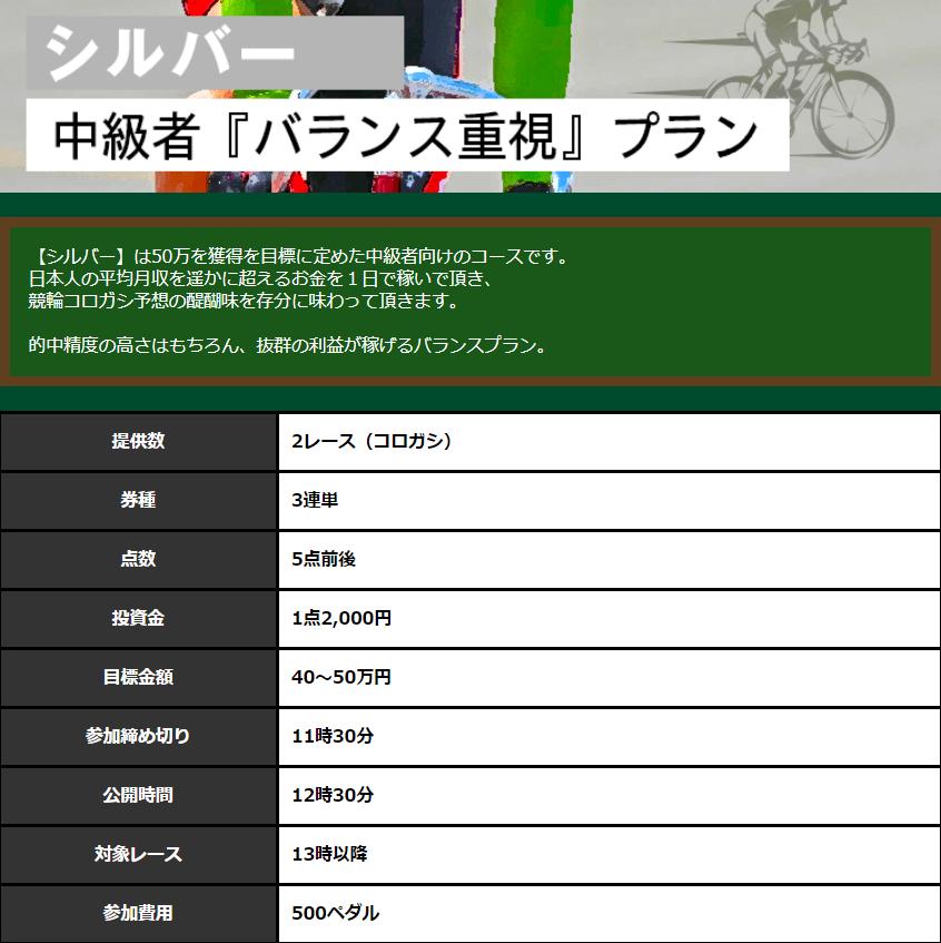 全力ペダル_有料情報_シルバー