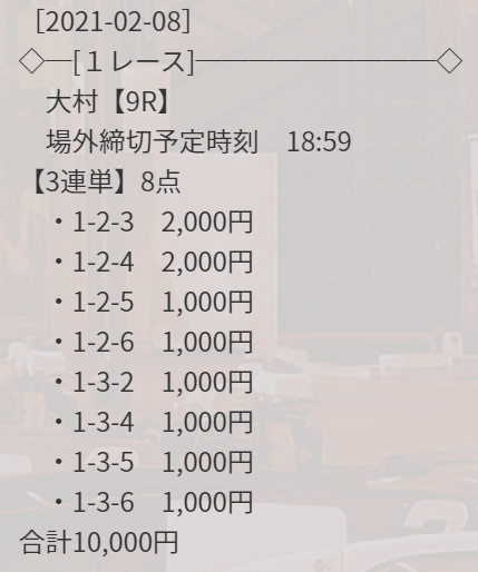 競艇ダイヤモンド_無料情報_2021年2月8日