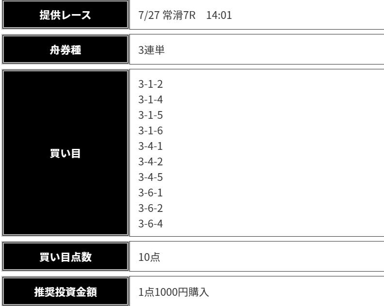 船の時代_無料情報_7月27日_常滑競艇場7R