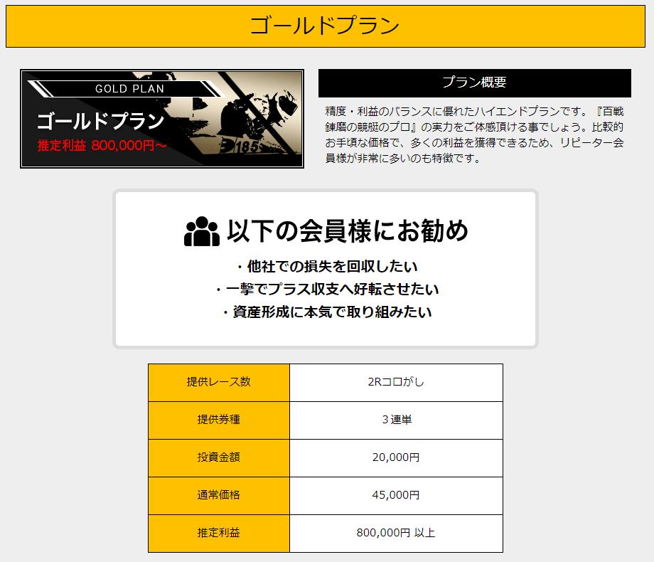 競艇魂_有料情報_ゴールドプラン
