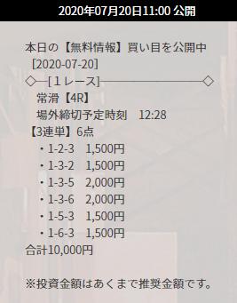 競艇ダイヤモンド_無料予想_7月20日_常滑競艇場4R