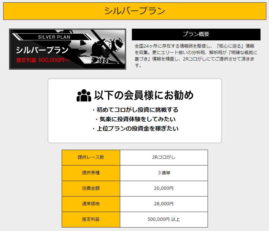 競艇魂_有料情報_シルバープラン