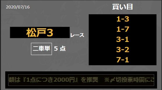 無料予想_競輪ジャンジャン_7月16日_松戸競輪場3R_第17回さわやかチャレンジC