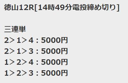 アクアライブ_無料予想_徳山競艇場12R
