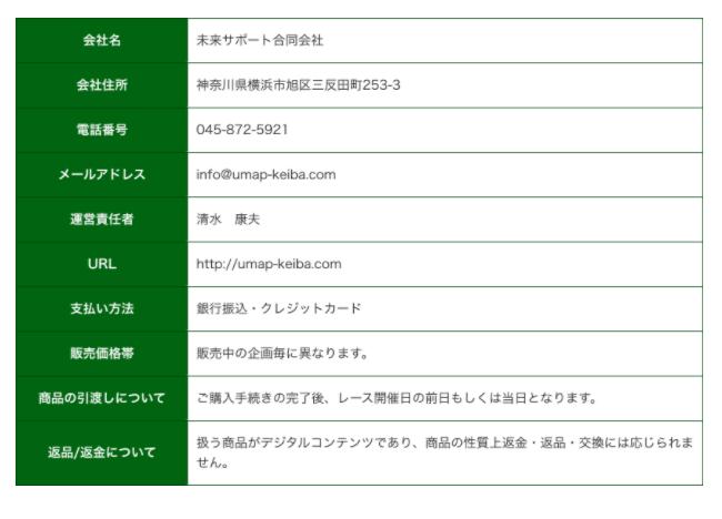 うまっぷ_運営情報