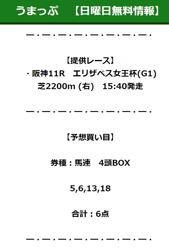 うまっぷ_無料予想_2020年11月15日_阪神11R
