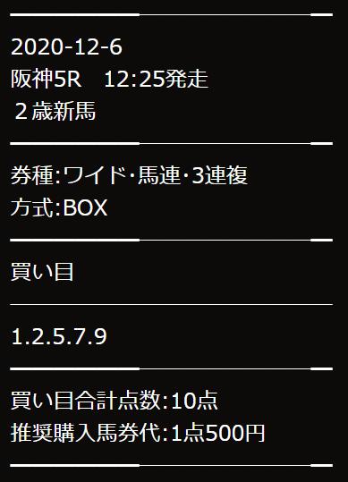 キャリーオーバー_無料予想_12月6日_阪神競馬場5R