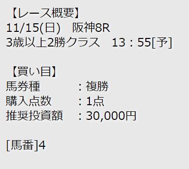 シャーロック_無料予想_2020年11月15日_阪神8R
