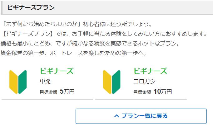 競艇NOVA(ノヴァ)_有料予想_ビギナーズプラン