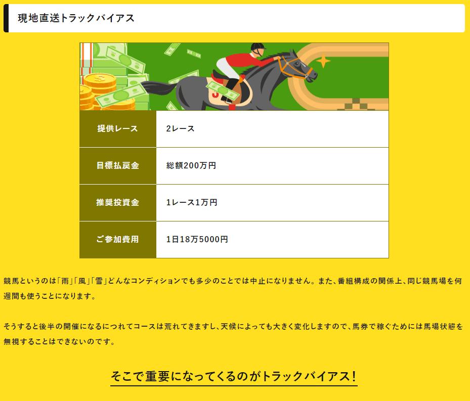 eco競馬_有料予想_現地直送トラックバイアス