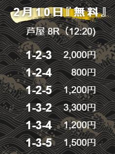舟王_無料情報_2021年2月10日