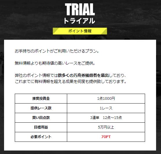 競艇ファンタジスタ_有料情報_トライアル