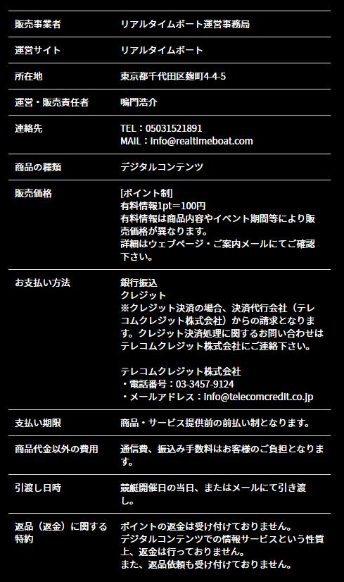 リアルタイムボート_運営情報