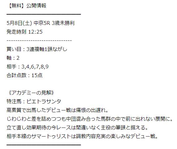 オッズアカデミー_無料情報_20210509