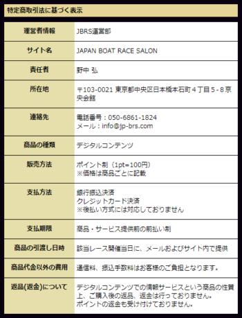 ジャパンボートレースサロン_運営情報