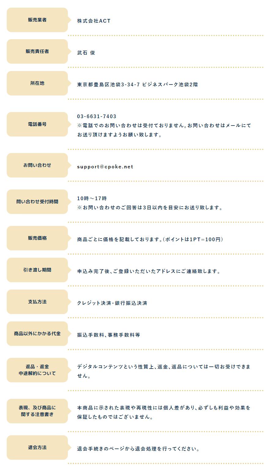 チャリポケ_運営情報